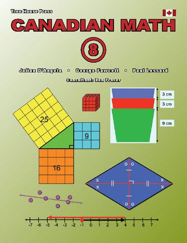 Canadian Math 8 Reproducible (Download Only) - clear, readable, downloadable, and reproducible lessons that teach every Canadian grade 8 math strand.