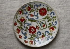 Lovely small peacock plate