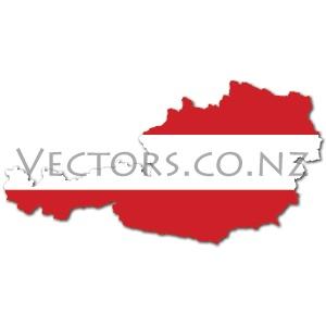 Flag Vector Map of Austria