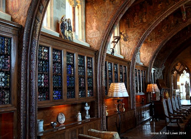 A peak into the private office of William Randolph Hearst, larger than most standard homes in America!