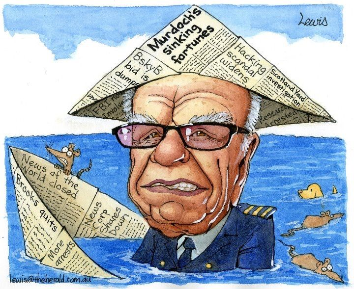 Rupert Murdoch during the Hacking Inquiry.