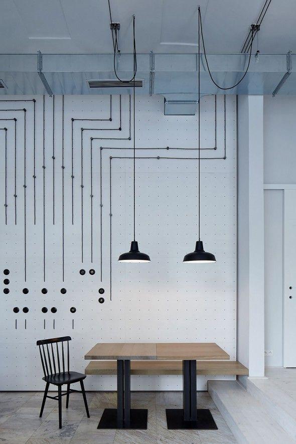 Le studio Mimosa architekti signe le projet d'aménagement intérieur du café Proti Proudu Bistro, situé à Prague, dans la République Tchèque. Dessiné avec une touche de modernité, le design se ressource de l'inspiration par František Křižík, l'innovateur d'ingéniosités électriques