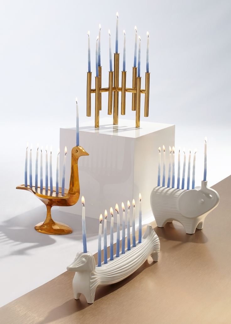 Holiday decor made chic with a Menorah from Jonathan Adler