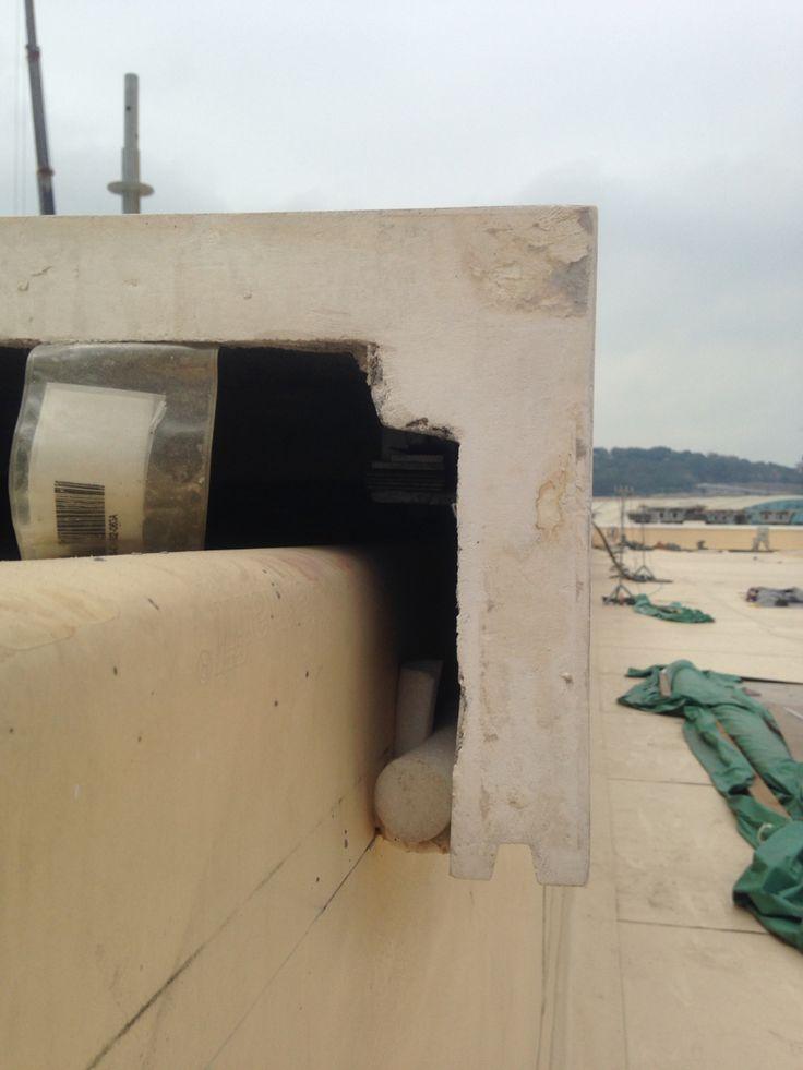 Precast Concrete Curb Reinforcement : Best images about parapet walls on pinterest stains