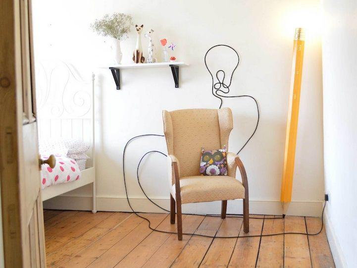 iluminacin creativa lmpara con forma de lpiz