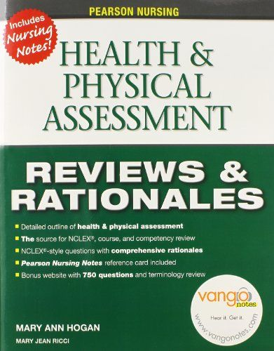nice Pearson Nursing Reviews & Rationales: Health & Physical Assessment (Prentice Hall Nursing Reviews & Rationales)  Essential for course review and NCLEX review, this resource is a complete, concentrated outline of Nursing Assessment. Each chapter contains objective... http://imazon.appmyxer.com/health-fitness/pearson-nursing-reviews-rationales-health-physical-assessment-prentice-hall-nursing-reviews-rationales/