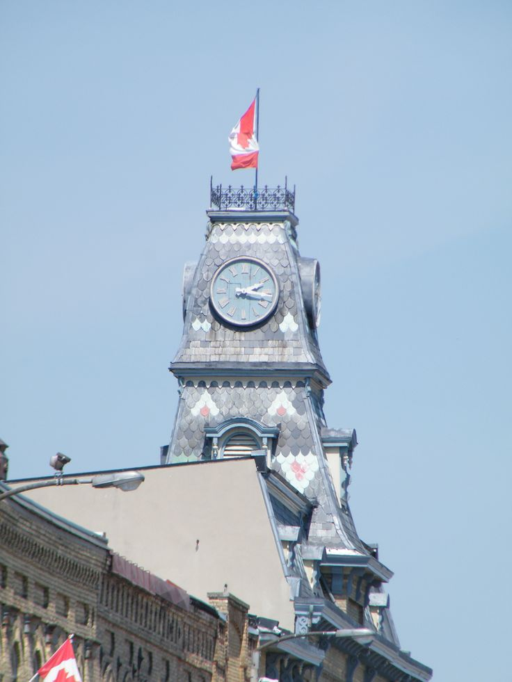 Clock tower with slate pattern, Goderich, Ontario