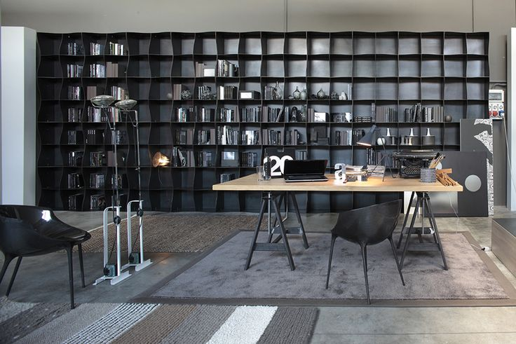 Iron-ic #modular #bookcase by Ronda Design. #metal #storagesystem #iron