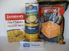 Chicken and rice casserole with Zatarain's Yellow Rice