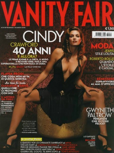 Cindy Crawford - Vanity Fair Magazine [Italy] (16 March 2006)
