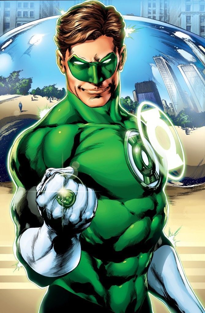 Hal Jordan is the greatest Green Lantern, an inter-galactic police officer and member of the Green Lantern Corps. The strength of his willpower allows him to wield the universe's mightiest weapon, a power ring controlled by his thoughts. In his secret identity he is a test pilot working for Ferris Aircraft where his boss Carol Ferris is also his romantic interest.