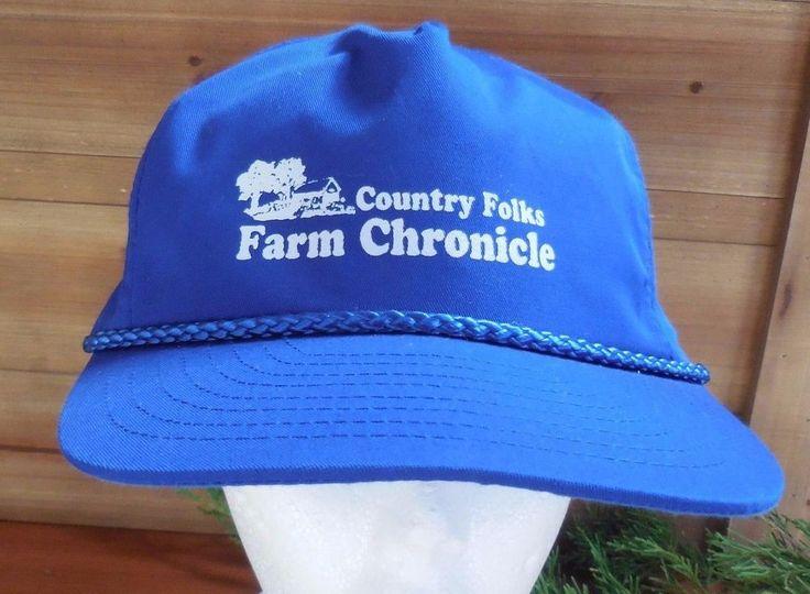 Blue Country Folks Farm Chronicle Trucker Snapback Nylon Hat Cap #Nissun  #Trucker