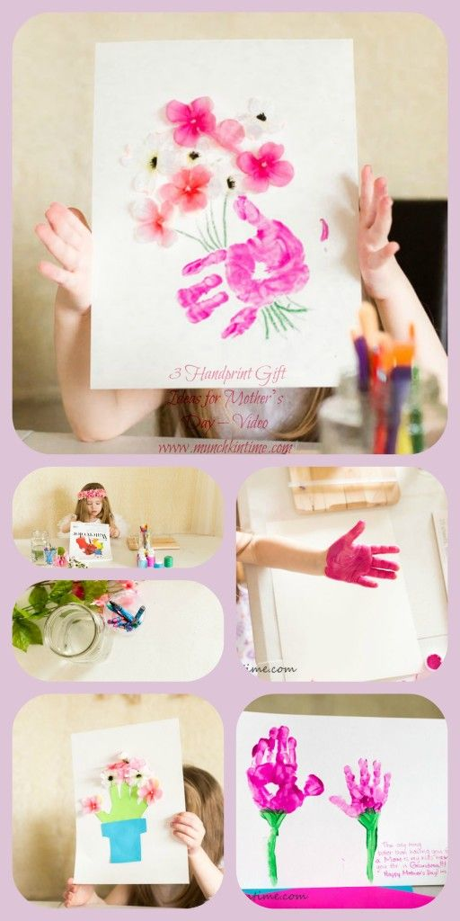 3 Handprint Gift Ideas For Mother S Day Video