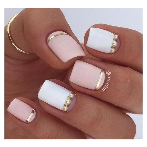 25+ Nail Design Ideas for Short Nails ❤ liked on Polyvore featuring beauty products, nail care, nail treatments and nails