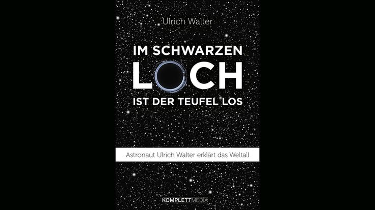 """In seinem Buch erklärt er wissenschaftlich korrekt, verständlich und sehr unterhaltsam alles Wissenswerte über die Welt von unten und von oben. Außerdem gibt er eine Einführung in die Relativitätstheorien und lüftet das Geheimnis, ob seine US-Raumfahrer-Kollegen wirklich auf dem Mond waren. Das Buch """"Im schwarzen Loch ist der Teufel los"""" umfasst ca. 272 Seiten und kostet 18 Euro."""