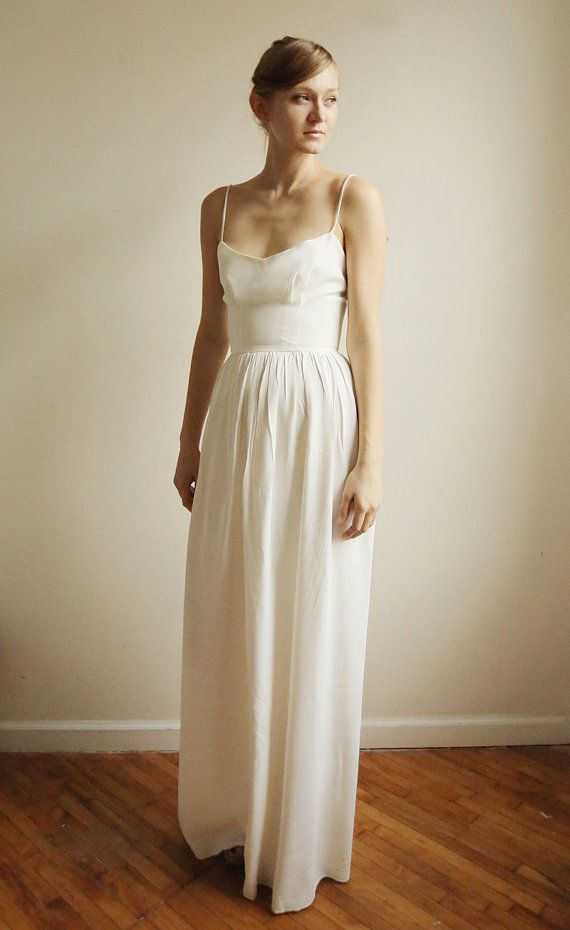 32 best wedding dresses images on pinterest short for Simple cotton wedding dress