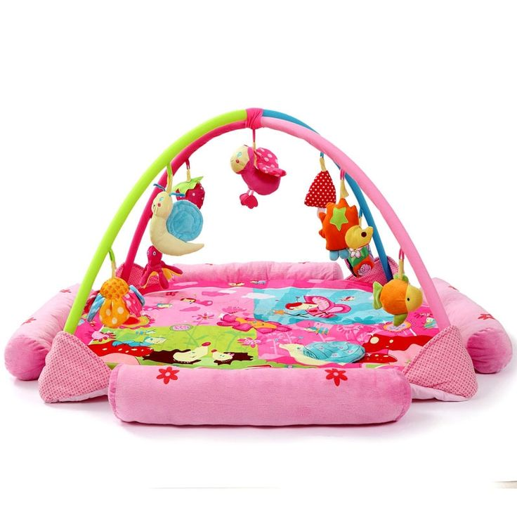 52.90$  Watch now - http://ali7e2.worldwells.pw/go.php?t=32785988132 - Classic Cartoon Princess Baby Cradle pink Super soft fabric cunas para bebes Baby crawling mat