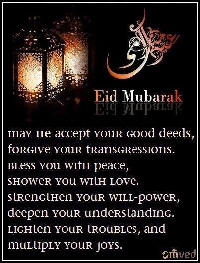 """May He accept your good deeds and forgive your transgressions. bless you with peace and shower you with love. strengthen your will-power and deepen your understanding. lighten your troubles, and multiply your joys."" We wish you and yours a very blessed Eid. Eid Mubarak. Be Balanced. Be Natural. Be You. - Omved"