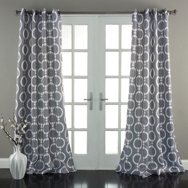 chainlink gray 84 x 52 inch curtain panel pair lush decor panels u0026 panel sets window