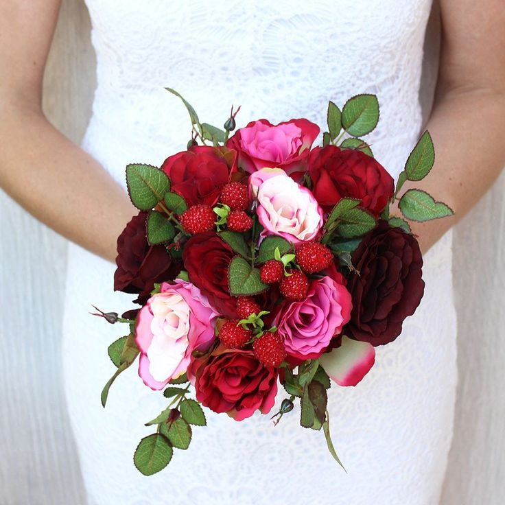 silk flower bouquets wedding 2 silk wedding bouquet roses in and pink 9 quot 7385