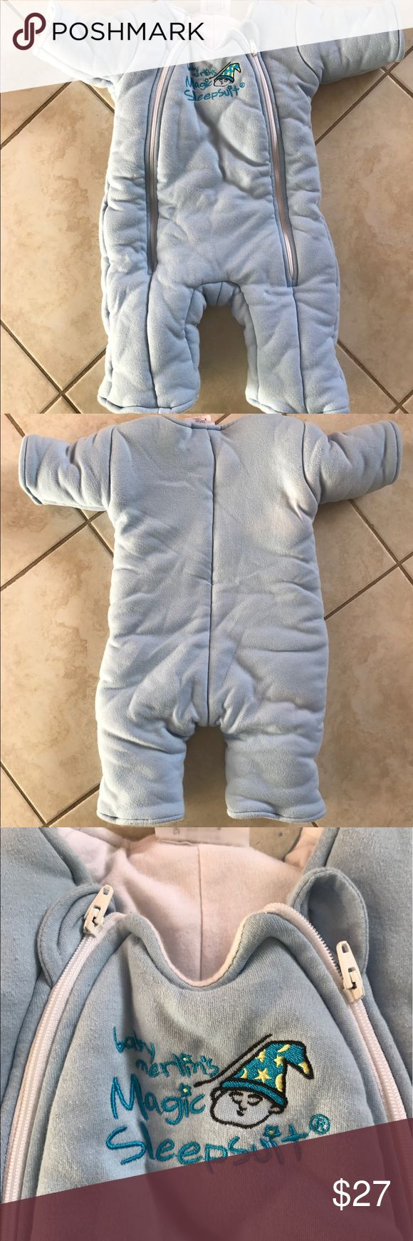 Baby Merlin's Magic Sleepsuit Sz Large 18-21 lbs Used Baby Merlin's Magic Sleepsuit in size Large or 6-9 Months (18-21 Months). Used for about a month. Washed 2 or 3 times and dried in machine dryer once. 100% Cotton Outer and Inner Layers. 100% Cotton Fill. This item never goes on sale. magic merlin sleepsuit Other