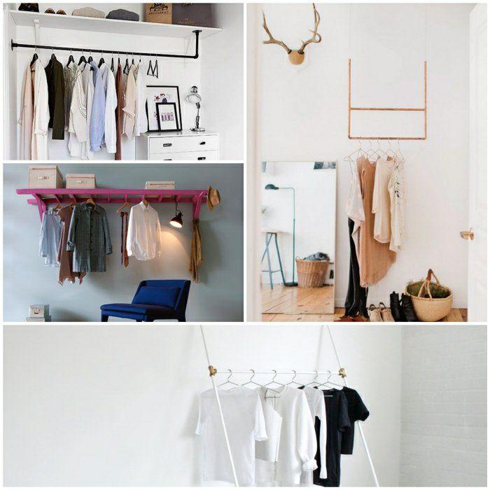 die besten 25 kleiderstange wand ideen auf pinterest kleideraufbewahrung kleiderstange und. Black Bedroom Furniture Sets. Home Design Ideas