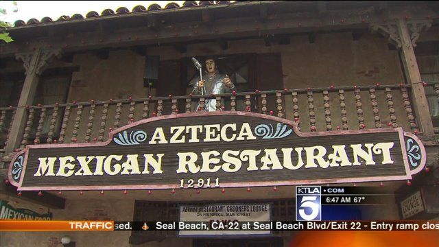 Burrous' Bites: Azteca Mexican Restaurant - Fantastic Mexican food and thousands of Elvis memorabilia all around you. Chris is in Garden Grove to chow down on some garlic tacos. Azteca Mexican Restaurant.
