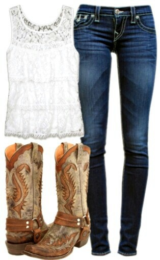 I'd wear flare jeans not skinny jeans, but cute
