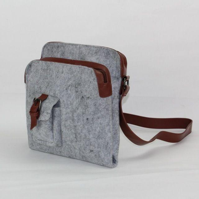 Goede Kwaliteit & Goedkope Mannen/vrouwen kleine Messenger Bag. stijlvolle eenvoudige duurzaam Milieuvriendelijke vilt kleine tas voor vrouwen/mannen als gift bag
