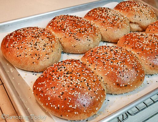 Sprouted Wheat Burger Buns | Recipe