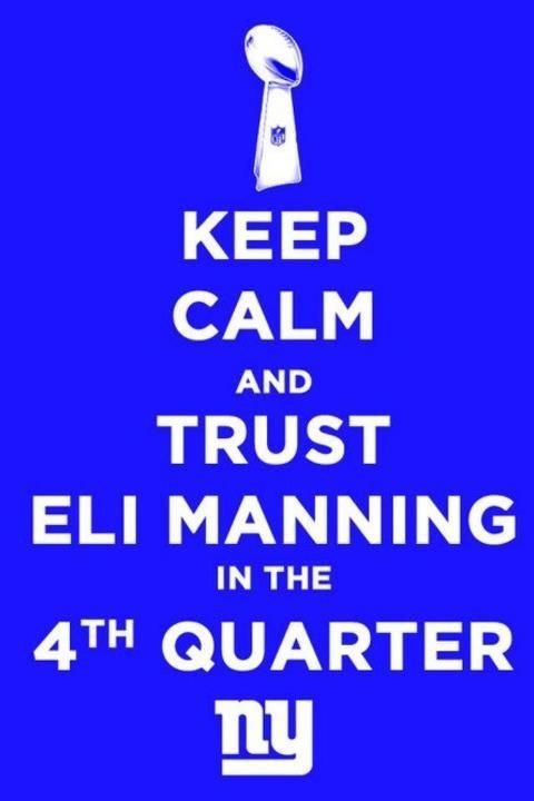 KEEP CALM AND TRUST ELI IN THE 4TH QUARTER