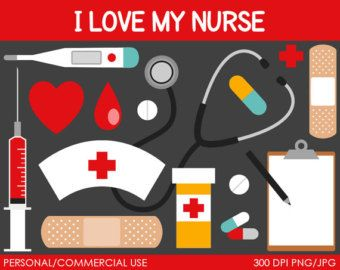 Nurse Clipart - Digital Clip Art Graphics for Personal or Commercial Use