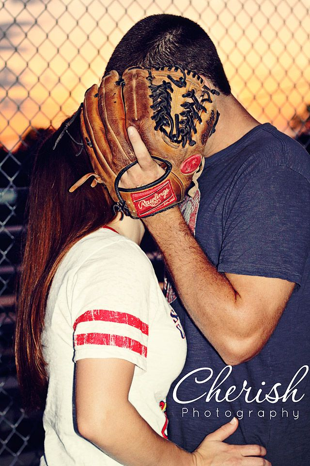 Engagement Pic- I like this one, but maybe something else covering. Not totally into baseball