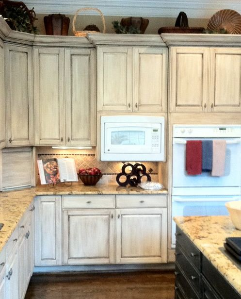 Chalk painted cupboards Photo Credit:  Houzz.com