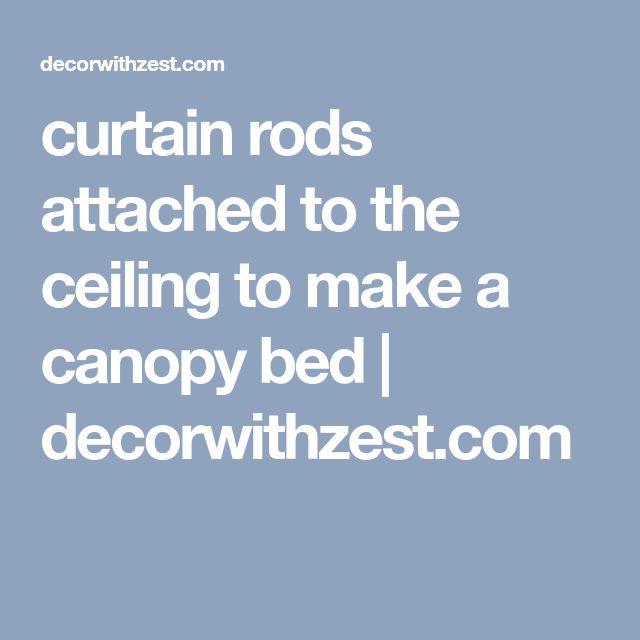 Bedroom Black Chandelier Bedroom Lighting Ideas Diy Bedroom Blue And Grey Gothic Bedroom Accessories: Best 25+ Curtain Rod Canopy Ideas On Pinterest