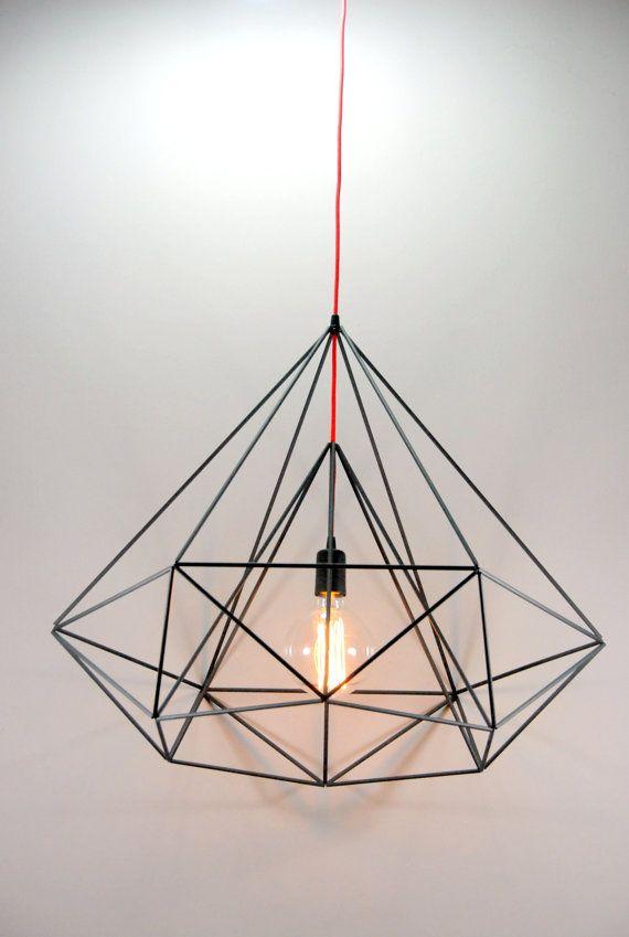 Diamond Himmeli light pendant geometric black by panselinos