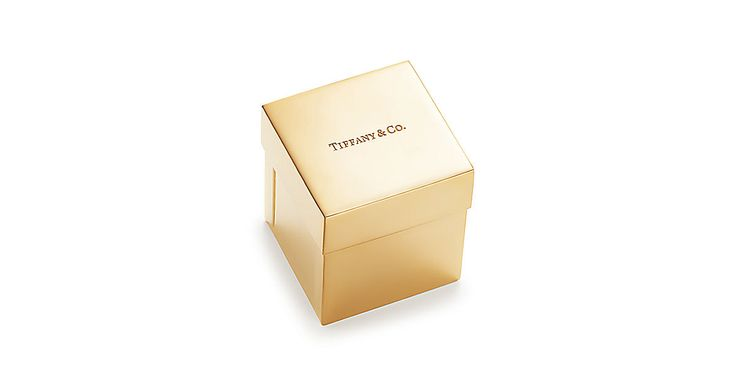 Everyday Objects Tiffany box in vermeil.