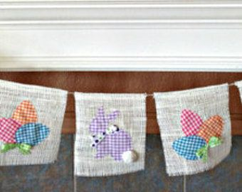 Burlap Banner Burlap Pinterest Easter Pillows