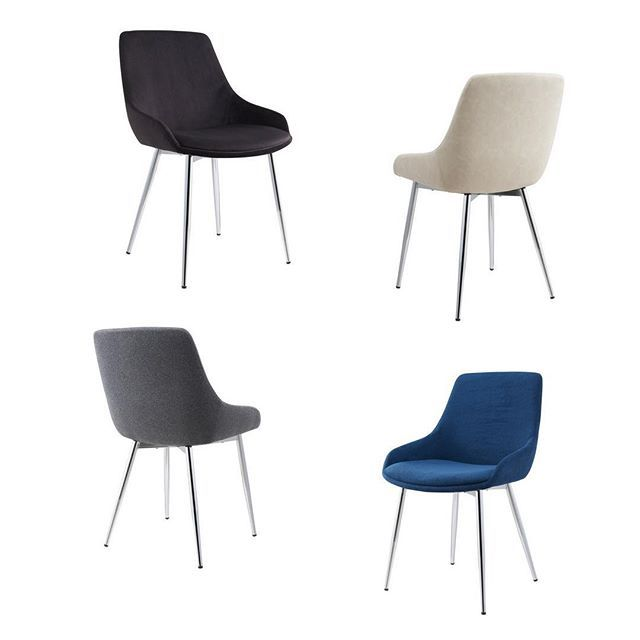 Who says dining chairs must be boring? The Cassidy dining chair from !nspire comes in four color choices that will match almost any decor style; black, dark grey, blue & beige. Enjoy!     http://worldwidehomefurnishingsinc.com/catalogsearch/result/?q=cassidy
