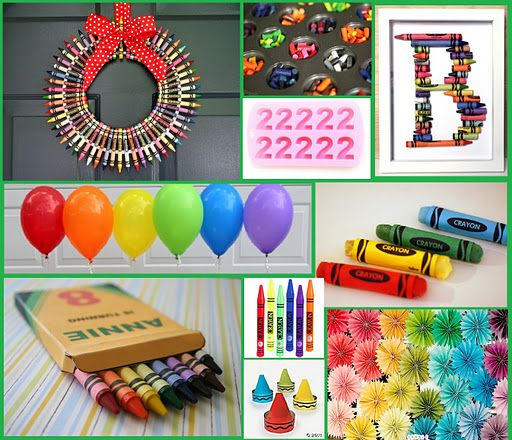 Great Ideas For A Crayon Themed Party Maybe Avas 3rd Birthday Hmmm