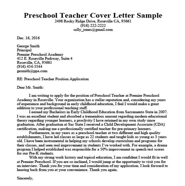 Sample Of Application Letter For Teacher With No Experience Blog Lif Co Id