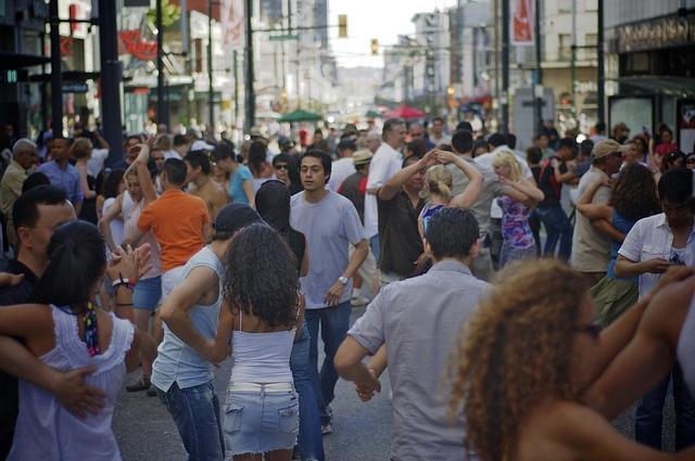 Salsa Dancing on Granville Street by John Bollwitt, via Flickr
