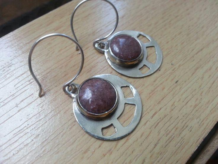 Silver Nickel Earrings