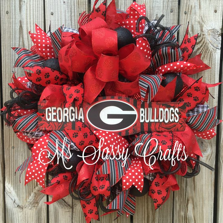 UGA Georgia Bulldogs Football Go Dawgs Hand Crafted Hand Painted ...