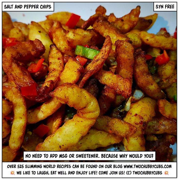 I can't believe we've never done these! Syn free salt and pepper chips - perfect for Slimming World, and no need to add MSG nor sweetener! PROPER FOOD! Tonnes more Slimming World meals - over 525 at the last count - all sorted by syn and ingredient. Plus: we're pretty funny, apparently. Come and see!