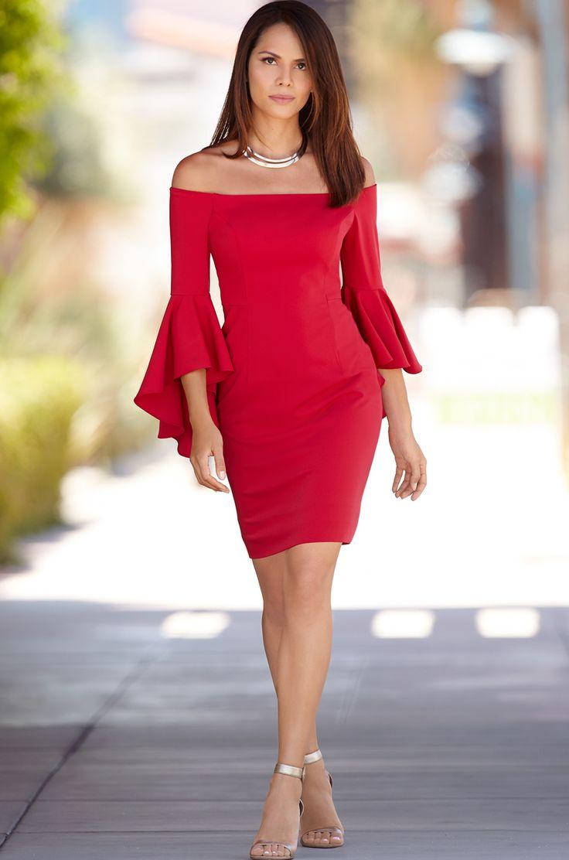 Boston Proper Off-The-Shoulder Dress