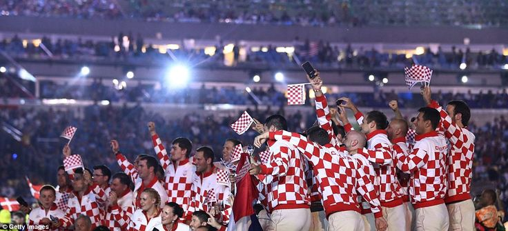 Fans took to social media in droves to slam the designer of Crotia's red and white chequered uniforms