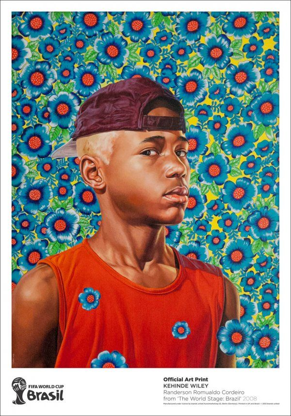 #KehindeWiley | Randerson Romualdo Cordeiro | FIFA World Cup Brazil 2014 http://www.printed-editions.com/artwork/kehinde-wiley-randerson-romualdo-cordeiro-24423 #Football #Brazil #WorldCup