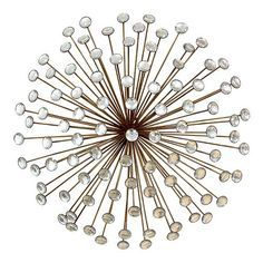 Exceptionnel Stratton Home Decor Metallic Jeweled Sunburst Wall Decor