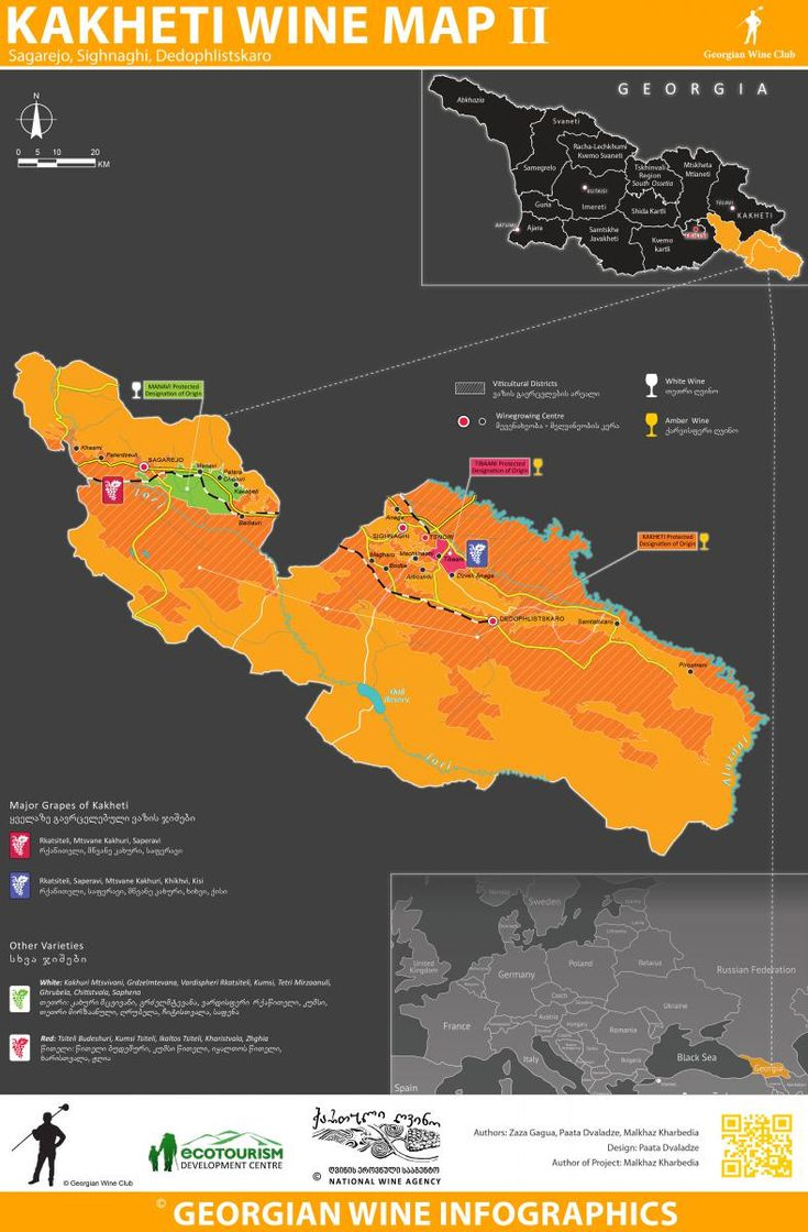 Kakheti Wine Map II – Georgian Wine Infographics (8) | Marani